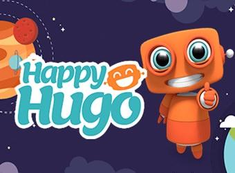 happy hugo casino robot mascotte
